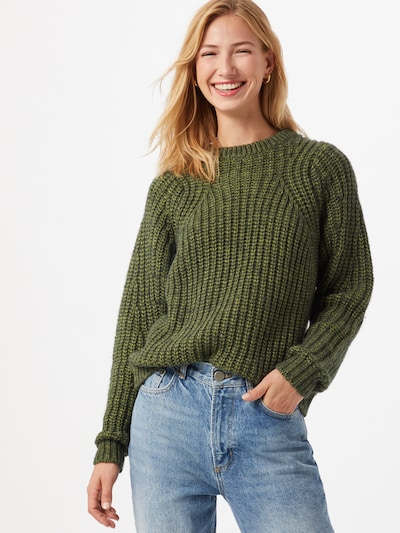 minimum Pullover in oliv, Modelansicht