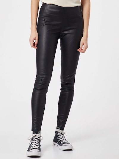 ONLY Lederleggins in schwarz, Modelansicht