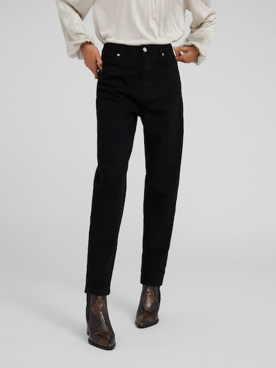 EDITED Mom Jeans 'Julina' in black denim, Modelansicht