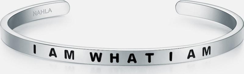 Nahla Jewels Armband mit I AM WHAT I AM-Schriftzug