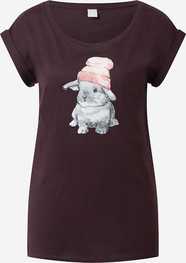 Iriedaily T-Shirt 'It Hasi' in schwarz: Frontalansicht