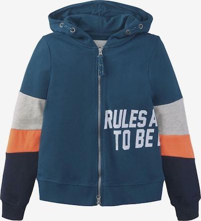 TOM TAILOR Strick & Sweatshirts Sweatjacke mit Colorblocking in mischfarben: Frontalansicht