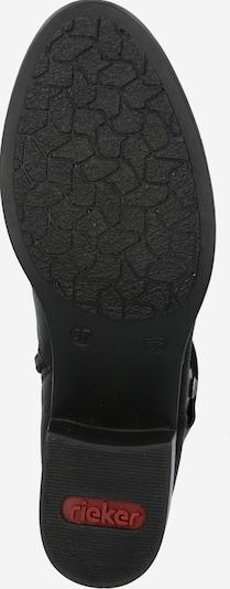 RIEKER Stiefelette in schwarz / silber: Ansicht von unten