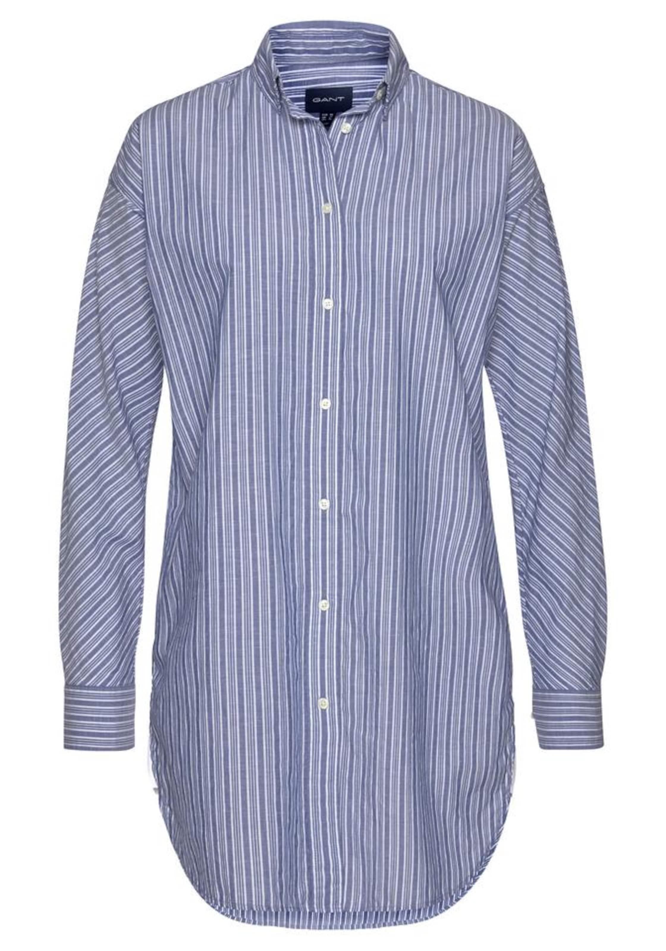 In Gant Gant TaubenblauWeiß Hemdbluse Hemdbluse ZuiPXOTk