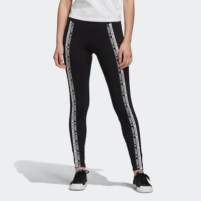 fekete / fehér ADIDAS ORIGINALS Leggings, Modell nézet