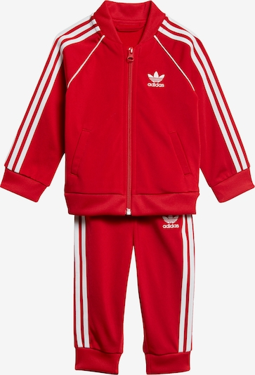 ADIDAS ORIGINALS Trainingsanzug in rot / weiß, Produktansicht
