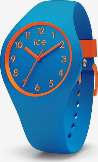 ICE WATCH Quarzuhr 'ICE ola kids - Robot - Small - 3H, 014428' in blau / dunkelorange, Produktansicht