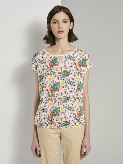 TOM TAILOR Shirt in grün / mischfarben: Frontalansicht