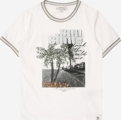 Tricou GARCIA pe gri / kaki / alb, Vizualizare produs