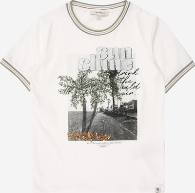 GARCIA T-Shirt in grau / khaki / weiß, Produktansicht