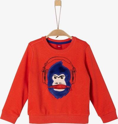 s.Oliver Junior Sweatshirt in blau / orangerot / weiß, Produktansicht