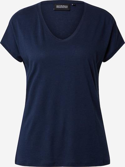 recolution Shirt 'Tencel Round V-Neck T-Shirt' in navy, Produktansicht