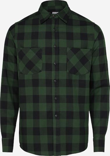 Urban Classics Overhemd 'Checked Flanell' in Donkergroen / Zwart oHB8rCzo