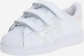 Baskets 'SUPERSTAR' ADIDAS ORIGINALS en blanc