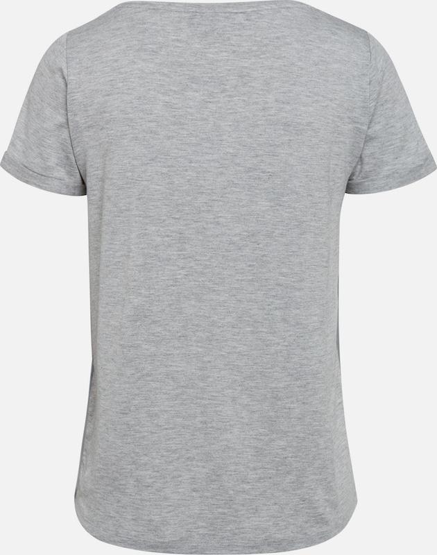 MORE & MORE Frontprint-Shirt, grau