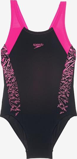 SPEEDO Badeanzug 'BOOM SPLICE' in pink / schwarz, Produktansicht