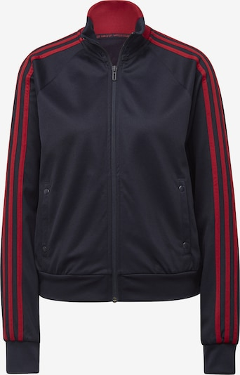ADIDAS PERFORMANCE Top 'ID 3-Stripes Snap' in navy / rot, Produktansicht