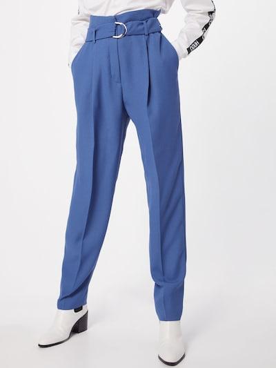 Pantaloni cu dungă 'Hosalia' HUGO pe albastru: Privire frontală