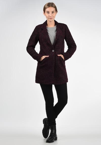 JACQUELINE de YONG Kurzmantel Berta in rot / schwarz, Modelansicht