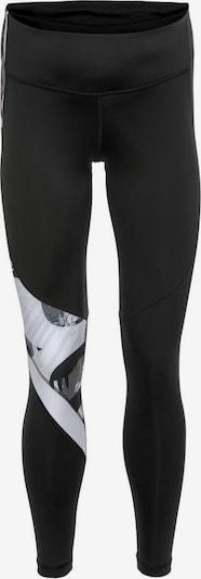 REEBOK Sporthose in grau / schwarz / weiß, Produktansicht