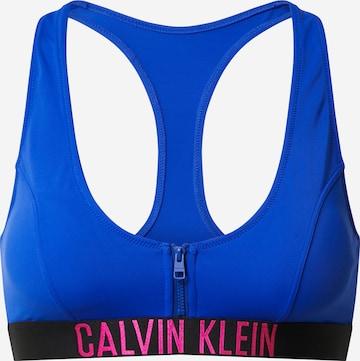 Calvin Klein Swimwear Bikinitop in Blau