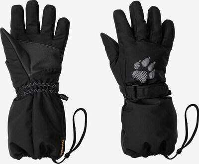 JACK WOLFSKIN Fingerhandschuhe in schwarz / weiß, Produktansicht
