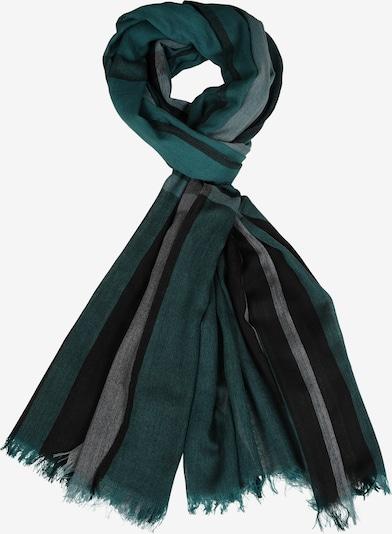 Silvio Tossi Schal in grünmeliert / schwarz, Produktansicht