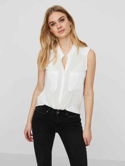 VERO MODA Bluse in weiß, Modelansicht