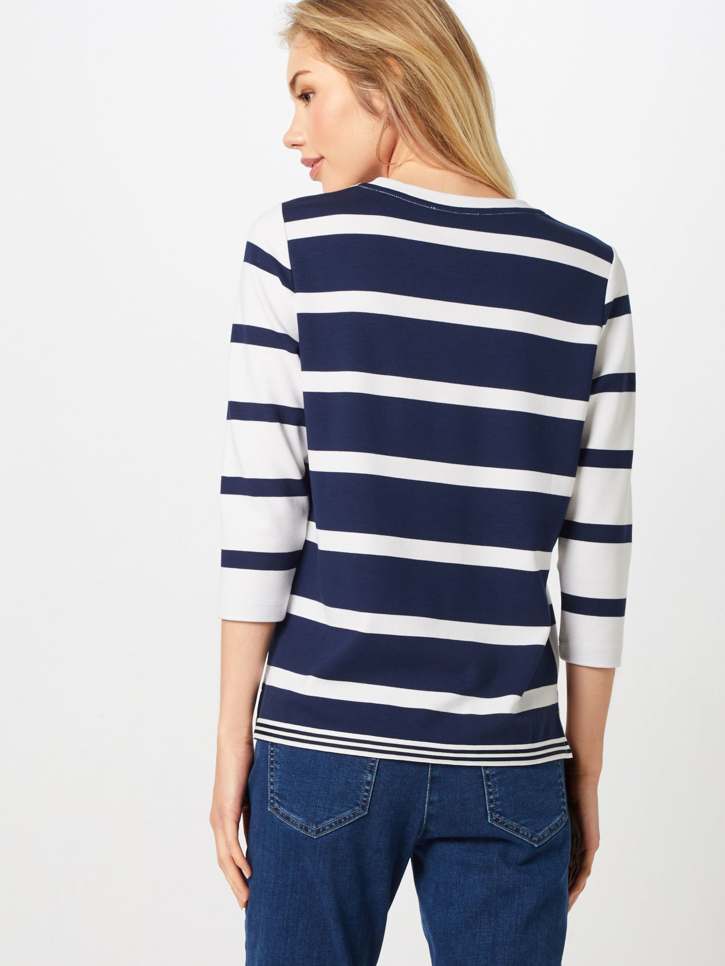 Brax shirt Bleu 'bobbie' T En MarineBlanc 8m0wnvN