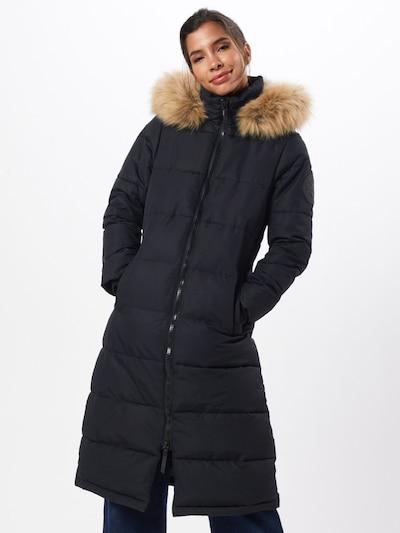 Superdry Mantel in schwarz, Modelansicht