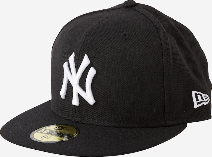 NEW ERA Cap '59FIFTY MLB Basic New York Yankees' in schwarz / weiß, Produktansicht