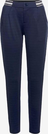 Tom Tailor Polo Team Bundfaltenhose in navy / silber / weiß, Produktansicht