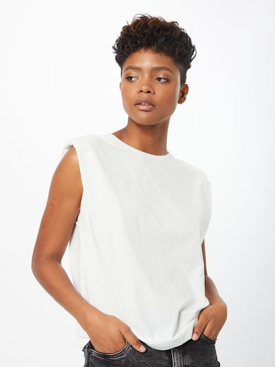 VERO MODA Shirt 'EVELYN' in weiß, Modelansicht