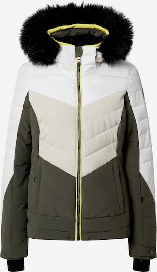 KILLTEC Sportjas 'Atka' in de kleur Taupe / Olijfgroen / Wit, Productweergave