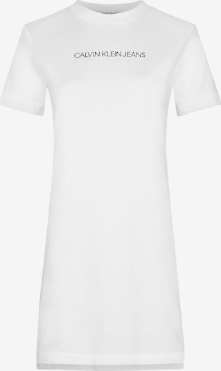 Calvin Klein Jeans Organic Cotton T-shirt Dress in weiß, Produktansicht