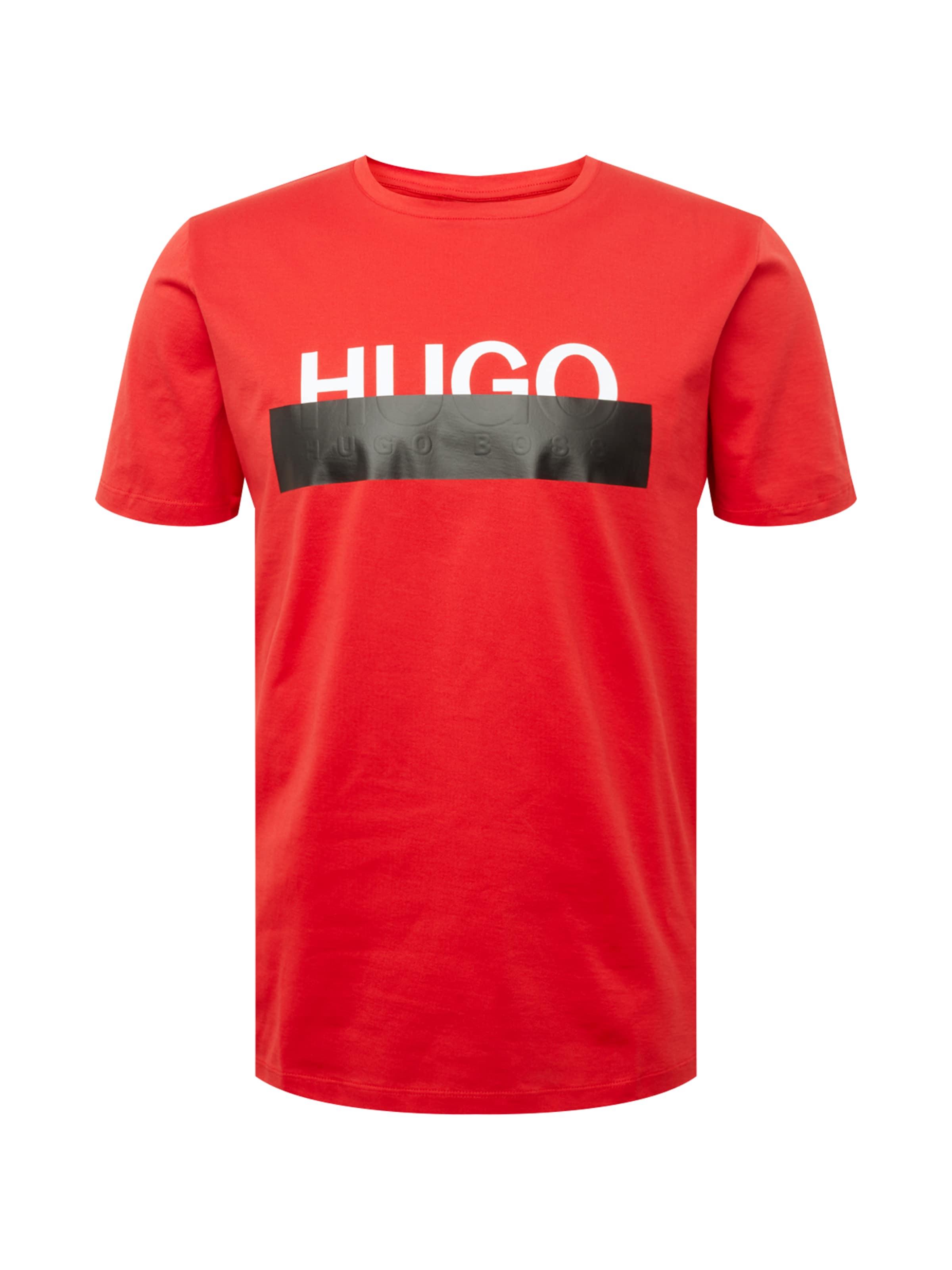 RougeNoir shirt 'dolive' HugoT In Blanc SVpqzUMGLj