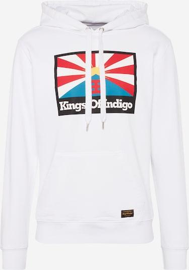 Kings Of Indigo Sweatshirt 'NARA' in mischfarben / weiß, Produktansicht