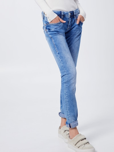 Herrlicher 'Piper' Slim Fit Jeans in blue denim, Modelansicht