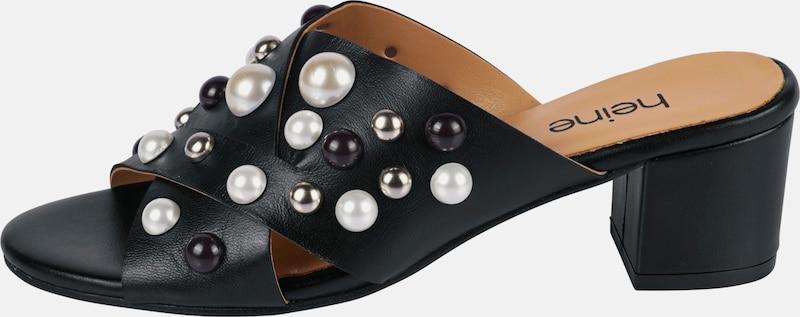 heine Pantolette mit Perlen-Applikation
