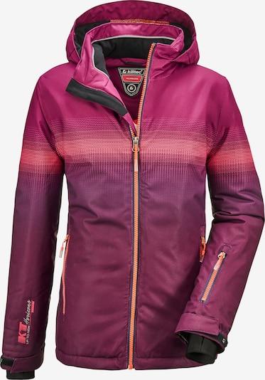KILLTEC Sportjacke 'Glenshee' in pflaume / pink / dunkelpink, Produktansicht