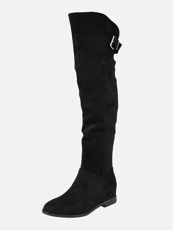 f3a33b25701 CALL IT SPRING Overknee laarzen 'KABANUCK' in Zwart | ABOUT YOU