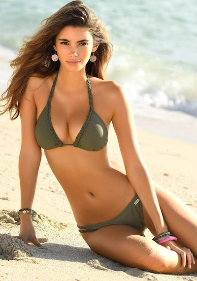 BUFFALO Triangel-Bikini in oliv: Frontalansicht