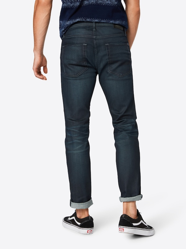 JACK & JONES Jeans 'JJITIM JJORIGINAL JJ 120 NOOS' in blue denim: Rückansicht