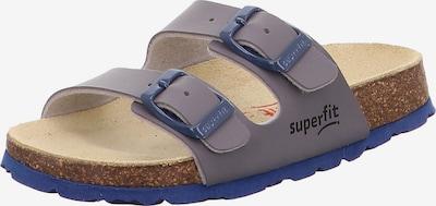 SUPERFIT Pantolette in blau / taupe, Produktansicht