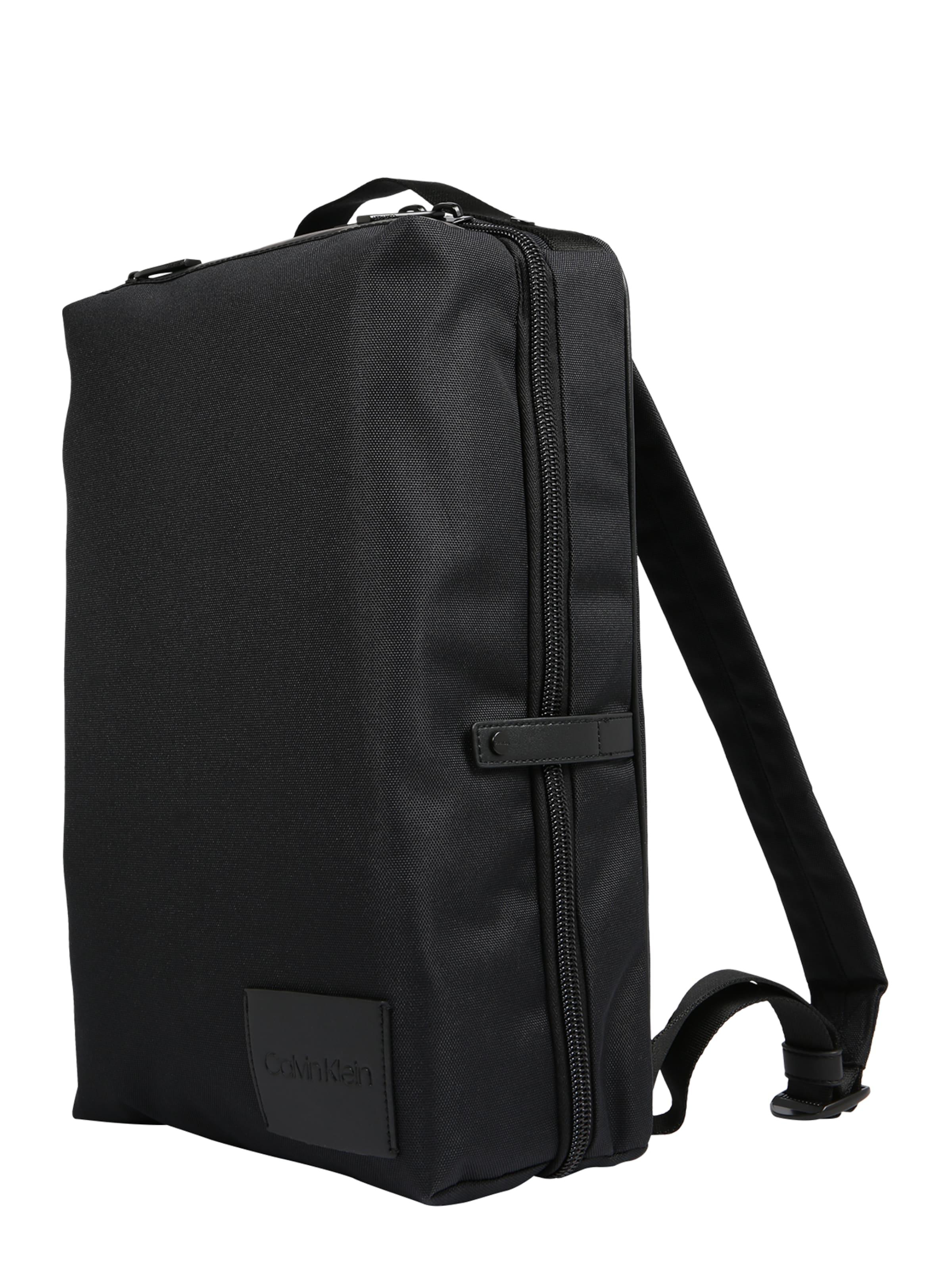 Calvin 'split Klein Sq Backpack' Schwarz In Rucksack DEH9IbeWY2