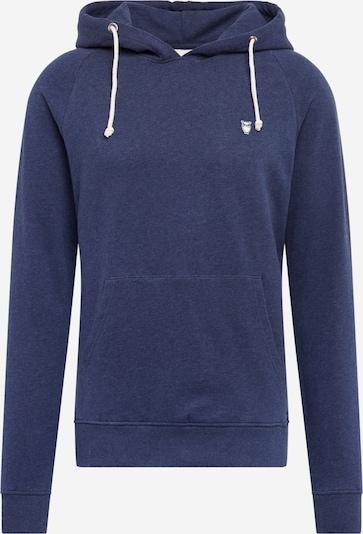 KnowledgeCotton Apparel Sweatshirt 'Hood kangaroo sweat with owl badge ' in de kleur Donkerblauw, Productweergave