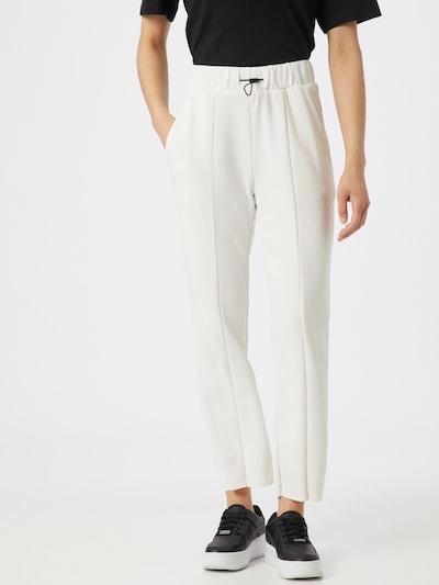 Pantaloni cu dungă Urban Classics pe negru / alb, Vizualizare model
