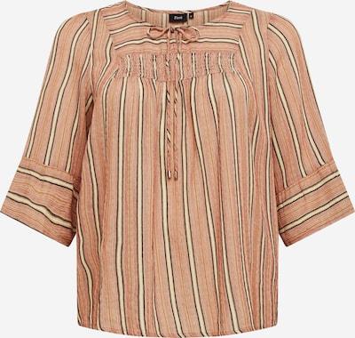 Zizzi T-shirt 'Calle' en jaune / vert / rose, Vue avec produit