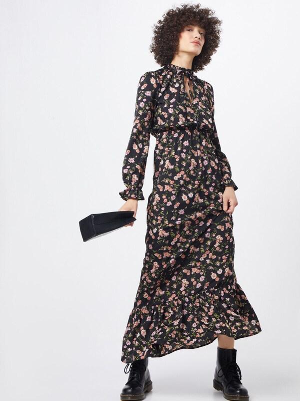 Boohoo Kleid 'Floral' in braun / schwarz | ABOUT YOU