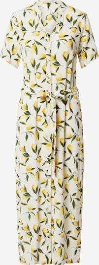 PIECES Kleid 'SAGGI' in gelb / dunkelgrün / weiß, Produktansicht